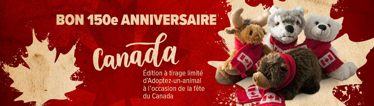 Limited Edition Canada 150 Adopt an Animal Stuffed Toys