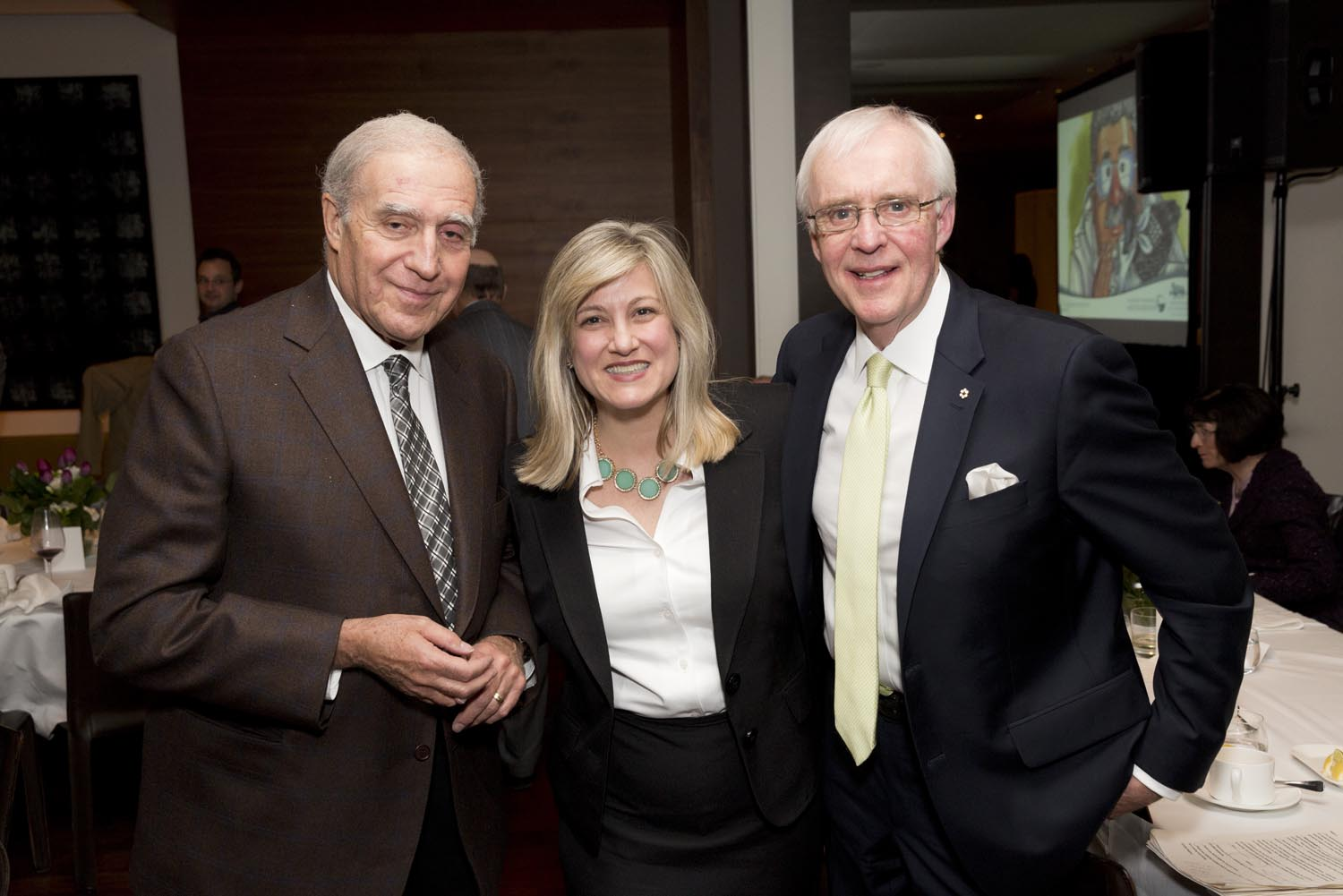 Mr. Arnold Gosewich, Foundation Director Louise Hanlon and TSN Broadcaster Mr. Brian Williams
