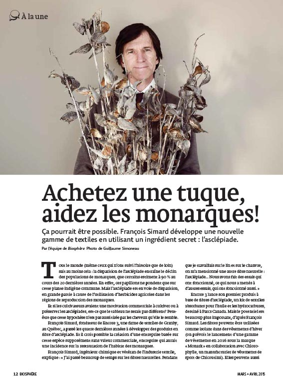 Article image with photo of François Simard