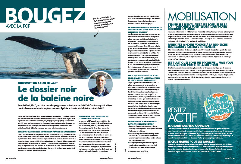 Bougez bulletin cover in french
