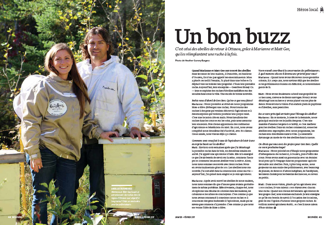 Article image with photo of beekeepers