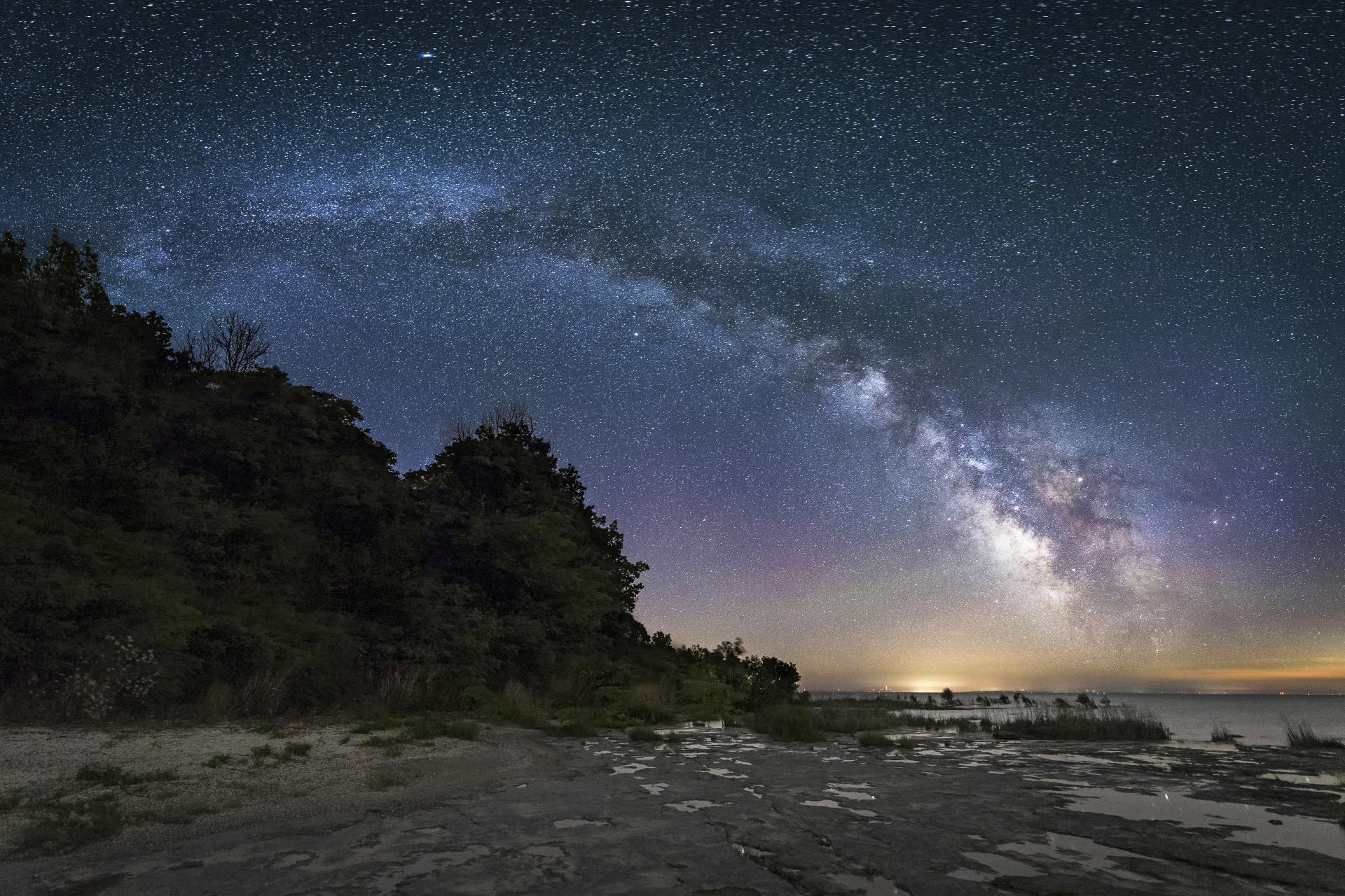 stars from shore