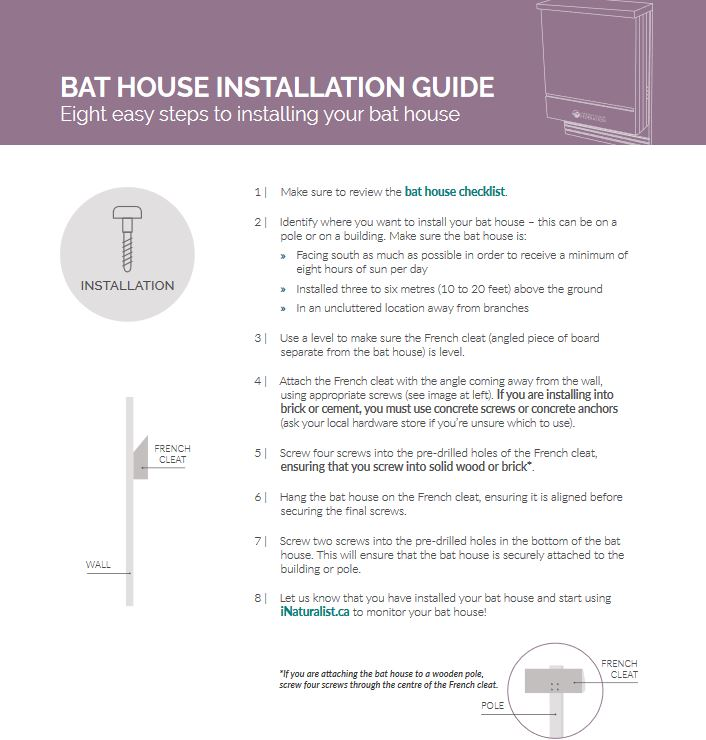 bat house installation cover