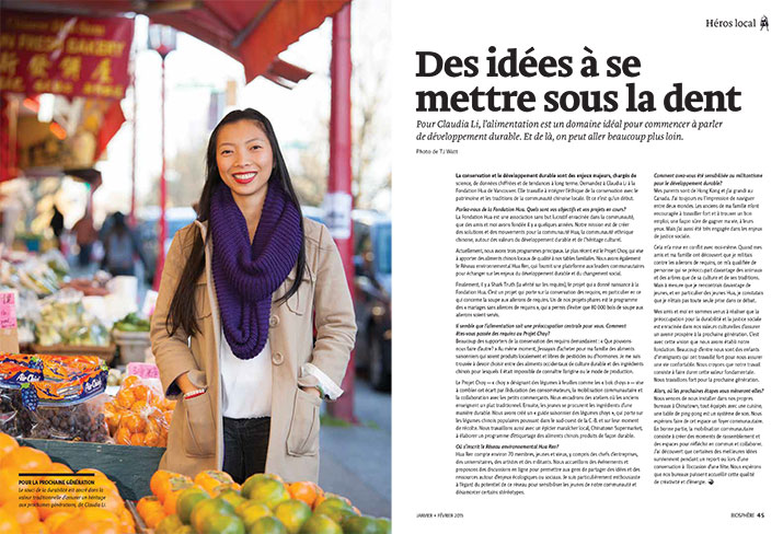 Article image with photo of Claudia Li