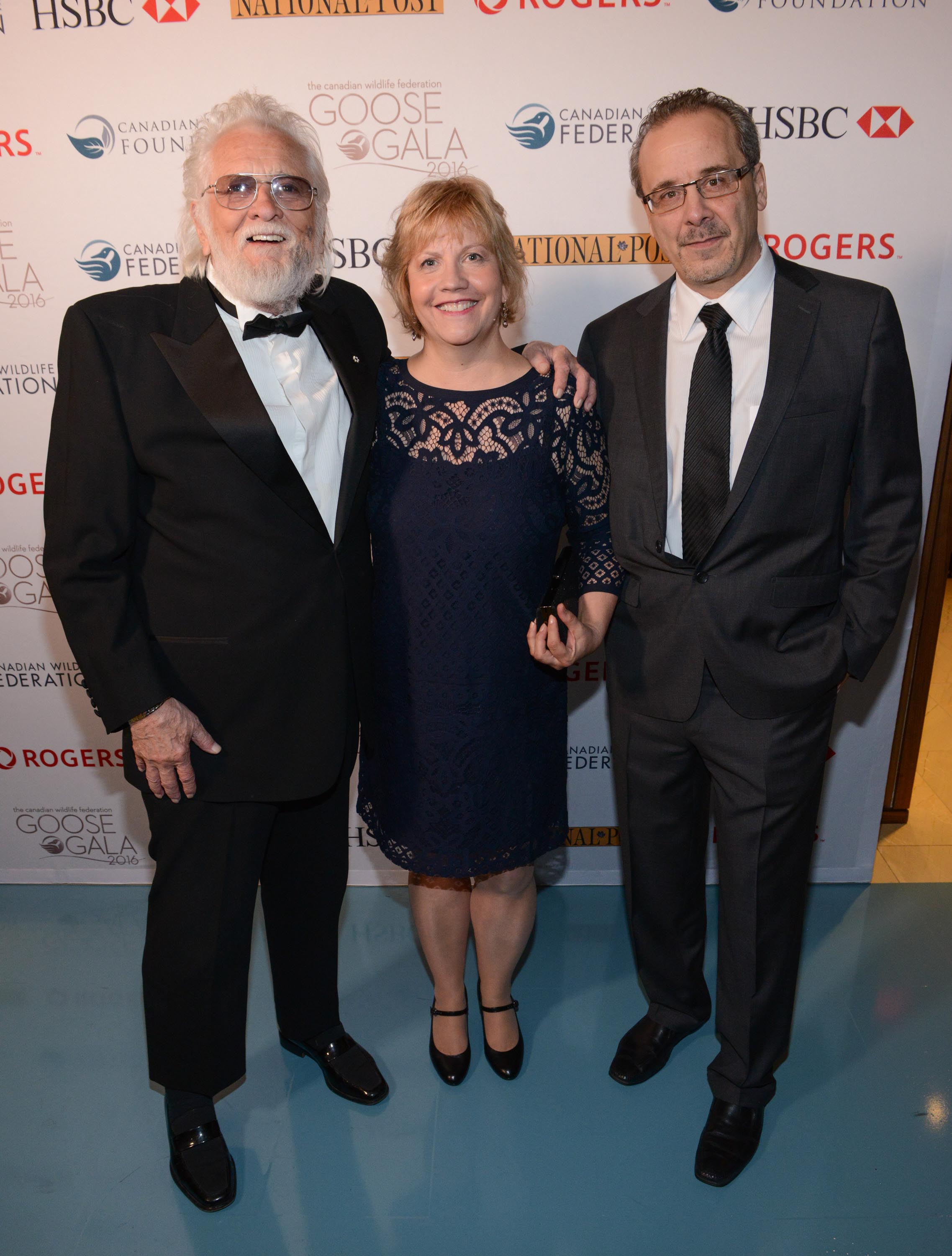 Ronnie Hawkins with Bobbi Bates and Acting Canadian Wildlife Federation CEO, Rick Bates