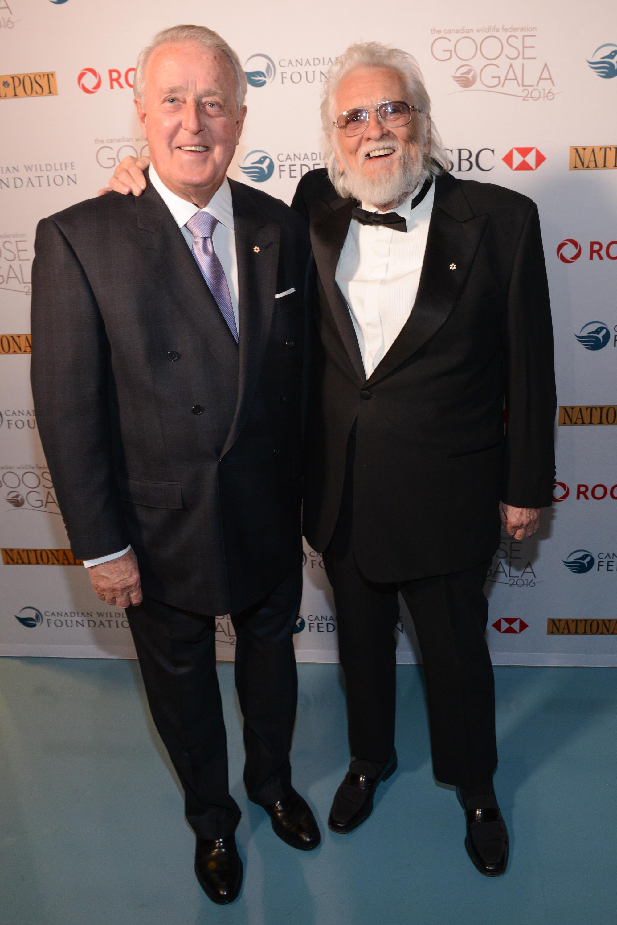 The Right Honourable Brian Mulroney and Ronnie Hawkins