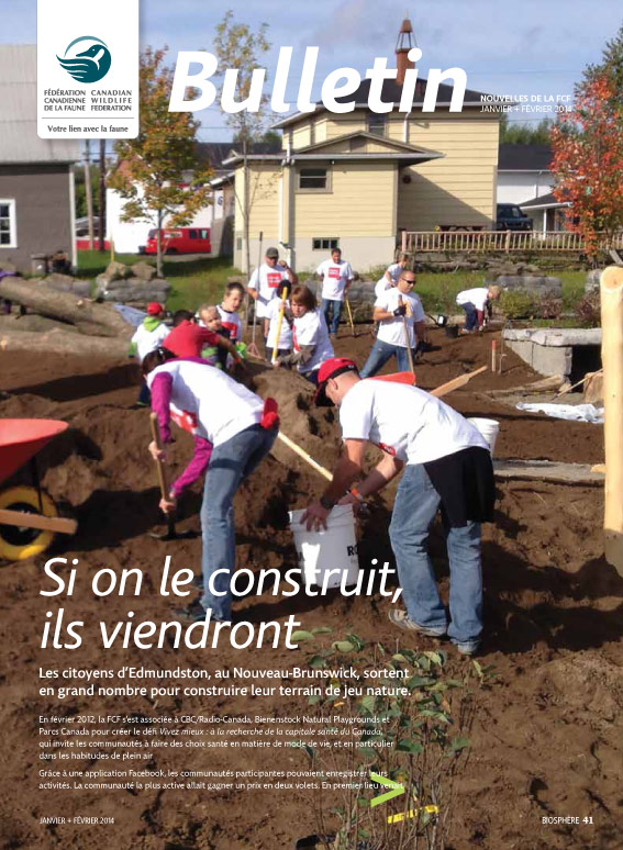Bulletin cover with people planting