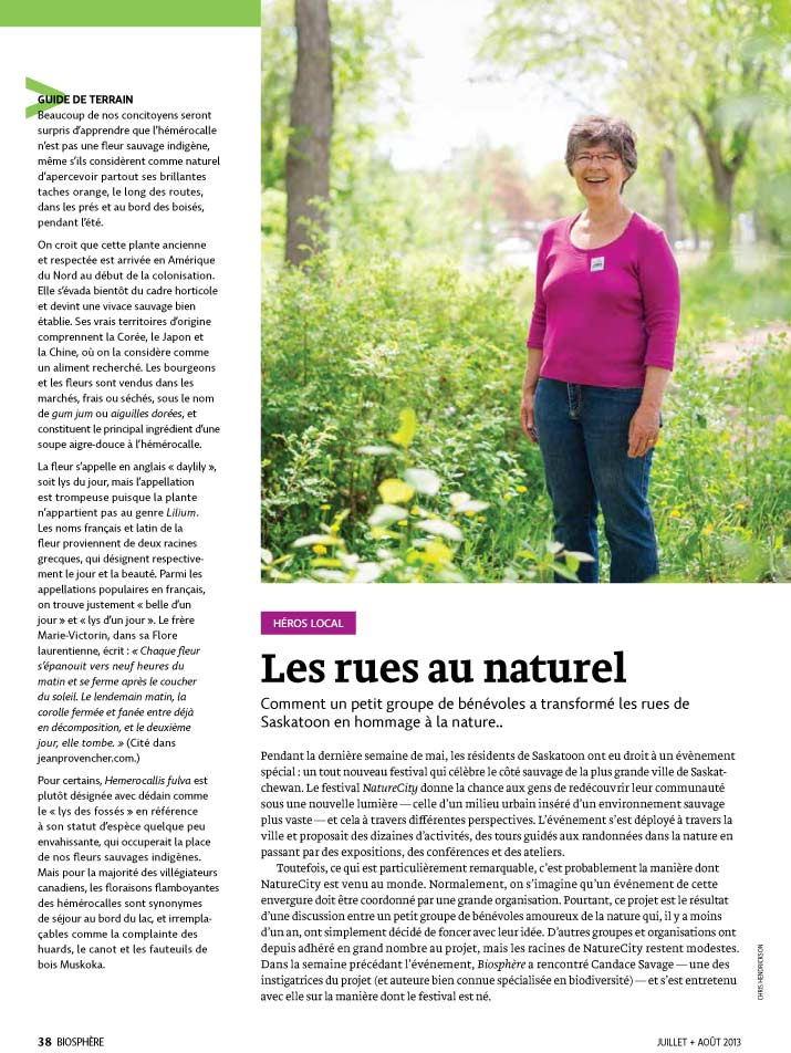 Article image with photo of a lady in a field