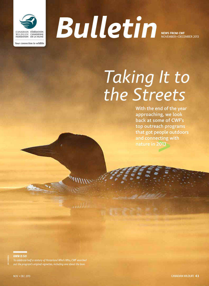 Cover of CWF bulletic with Loon on the front