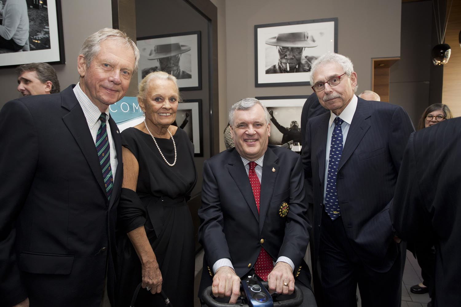 Mr. Robert Bateman, Mrs. Loretta Rogers, The Honourable David Onley, Lieutenant Governor of Ontario and Dr. Bernie Gosevitz