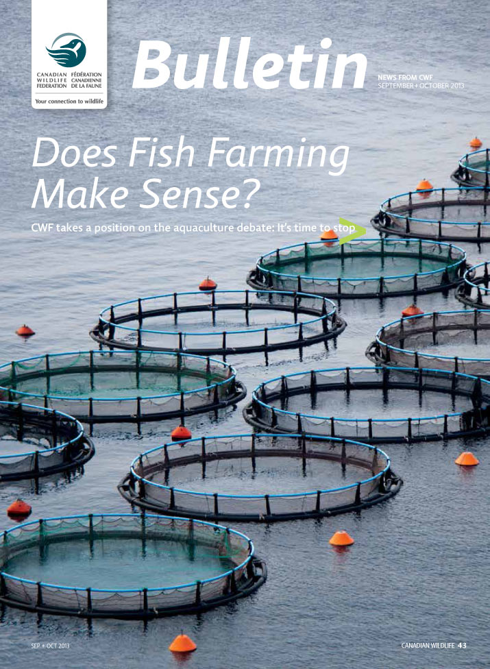 CWF Bulletin cover showing picture of Aquaculture pens