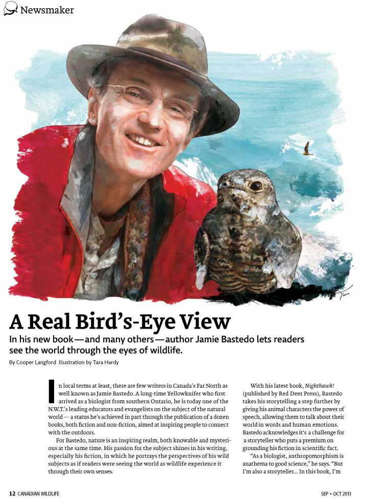 Article image with illustration of Jamie Bastedo