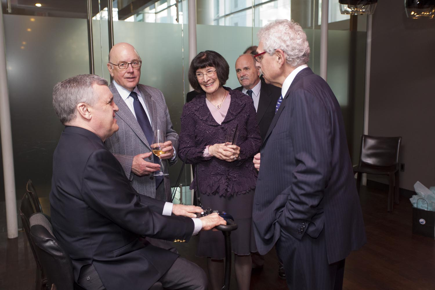 The Honourable David Onley, Lieutenant Governor of Ontario, Former Chief Justice of Ontario, Warren Winkler, Mrs. Ruth Winkler, Foundation President Mr. Pat Doyle and Dr. Bernie Gosevitz