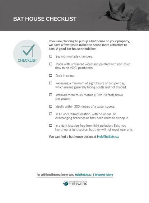 bat house checklist cover