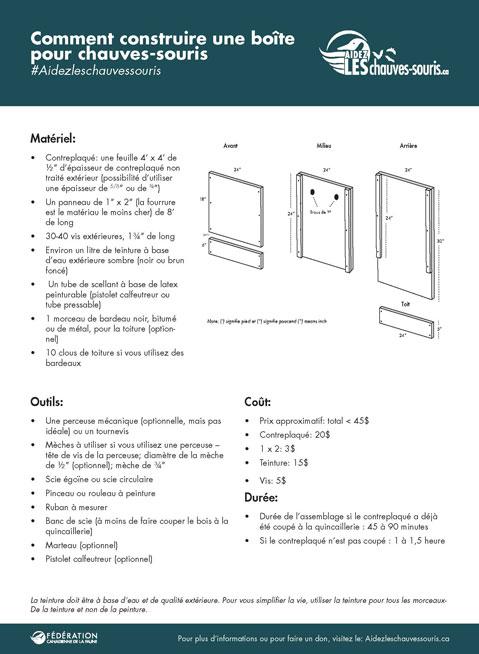 Thumbnail of Bat Box instructions