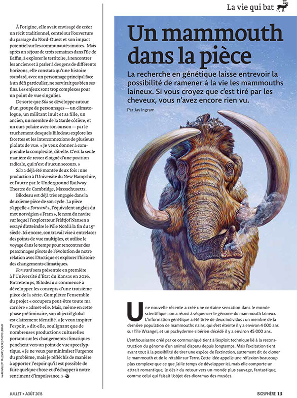 Article image with illustration of wooly mammoth