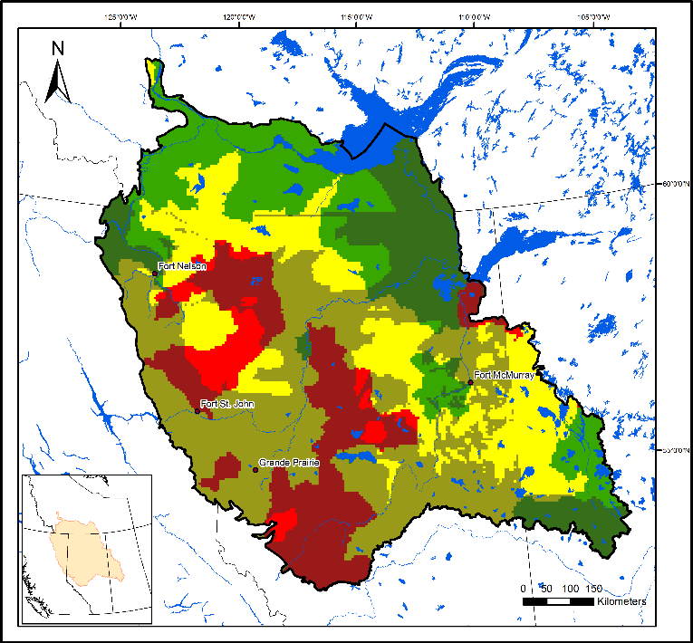 Boreal caribou population in 2010