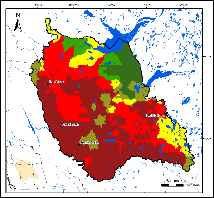 Boreal caribou population in 2060