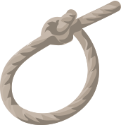 Graphic of a bowline