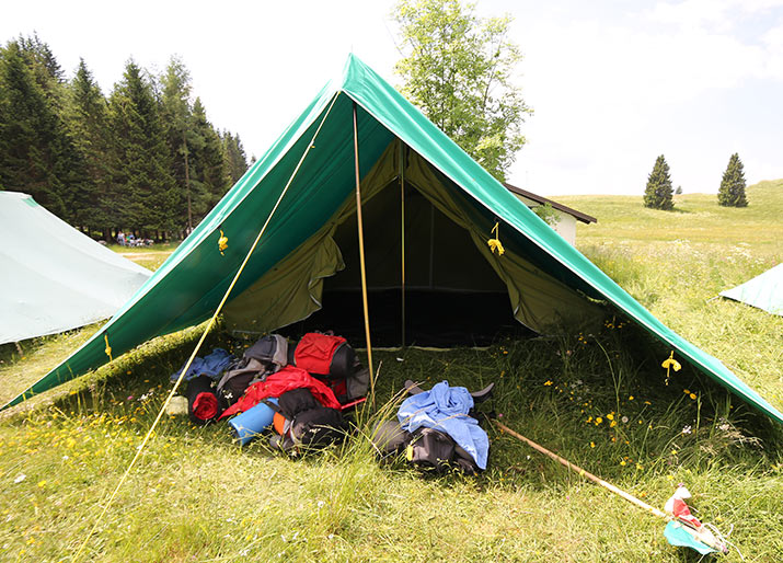 Scouts tenting