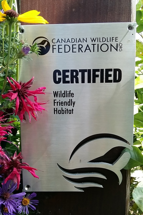 CWF Garden Certification sign