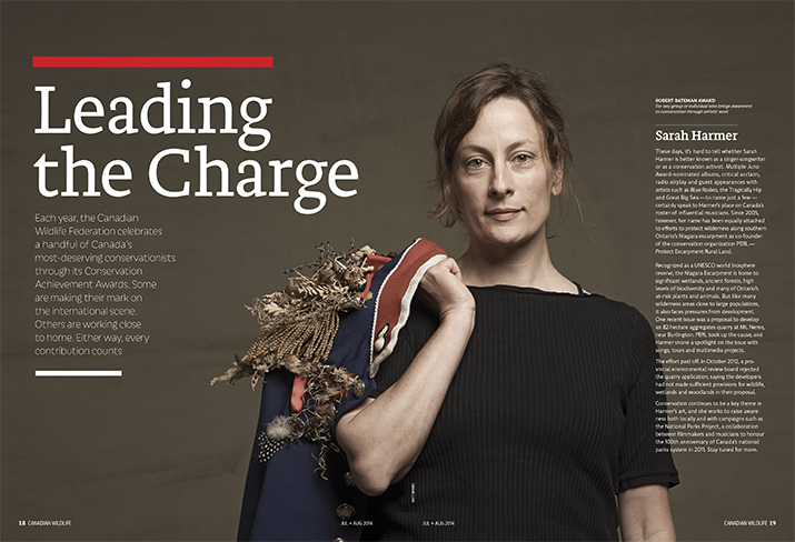 Canadian Wildlife July August 2014 Feature Story Leading the Charge