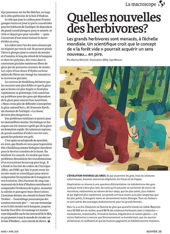Article image with illustration of mammoths
