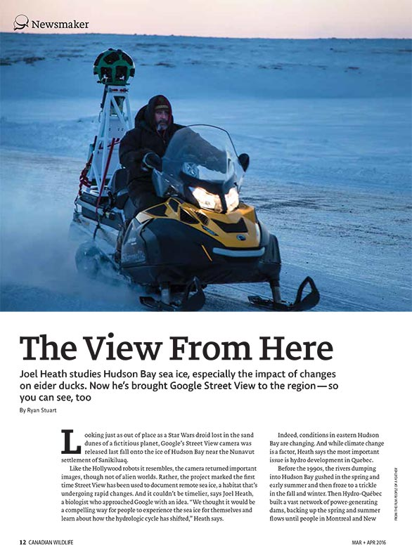Article image with photo of Joel Heath on snowmobile