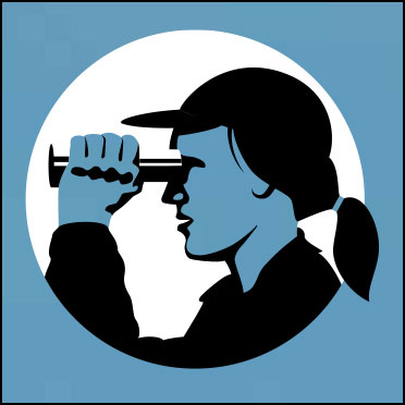 Person with binoculars icon