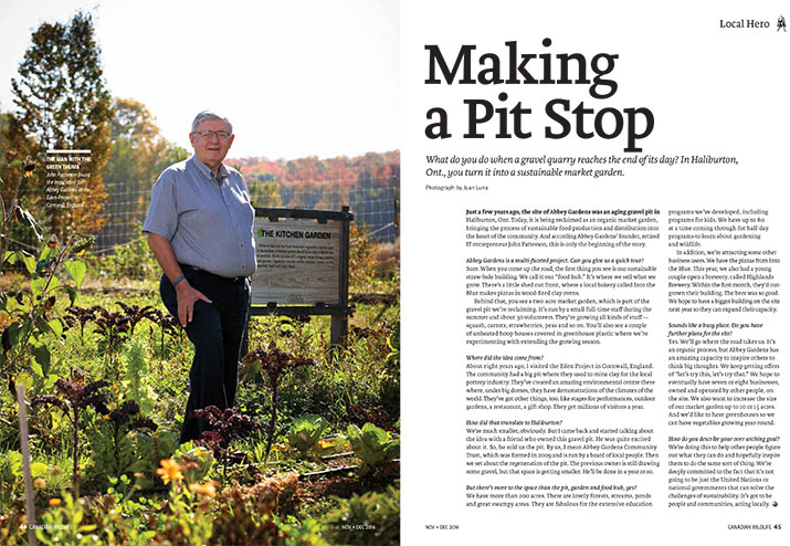 Article image with photo of John Patterson standing in a garden