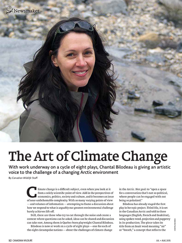 Article image with photo of Chantal Bilodeau