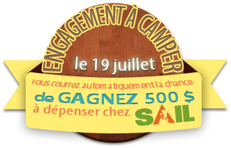 Commit to camp logo in french