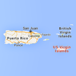 St. Croix highlighted on a map