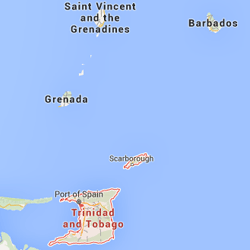 Trinidad highlighted on a map