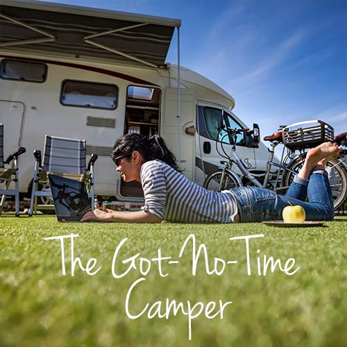 The Got-no-time Camper banner
