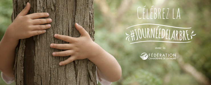 Celebrate national tree day banner