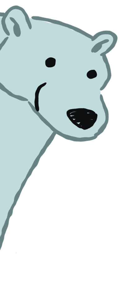Polar Bear on side of page