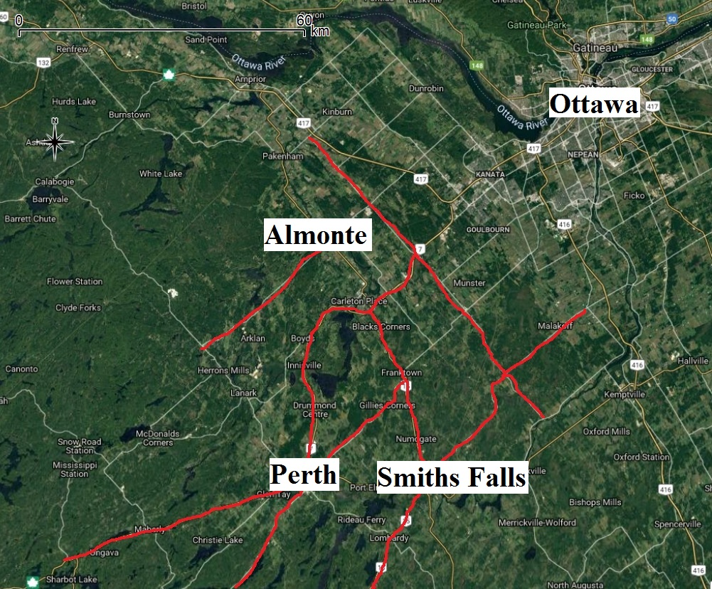Hot Roads Do you regularly drive one of Eastern Ontario's 'hot roads?' This map is a compilation of CWF's 2018 data on turtle strikes.