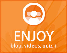 Enjoy blogs, quizzes icon