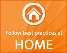 Foloow best practices at home icon