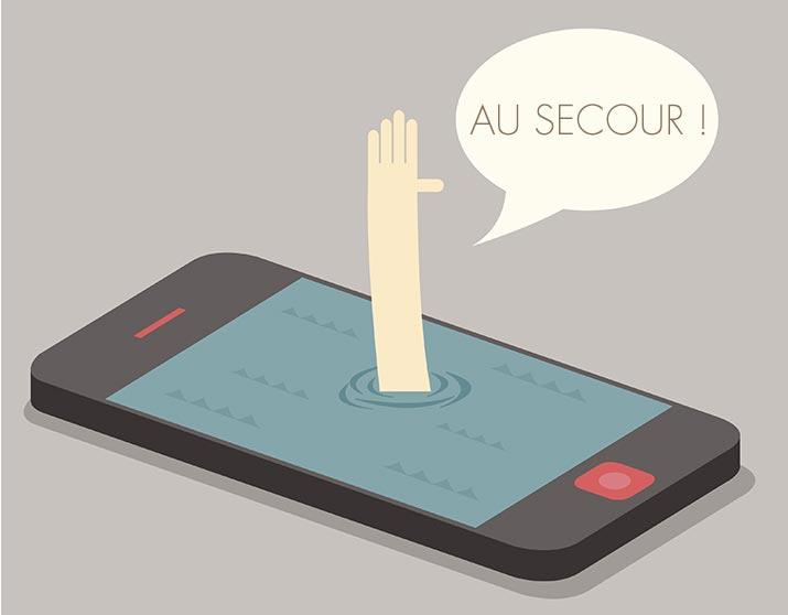 cell phone addiction fr au secours