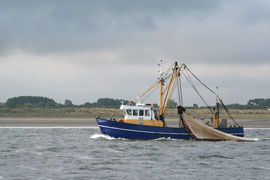 Fishing trawler boat on the water