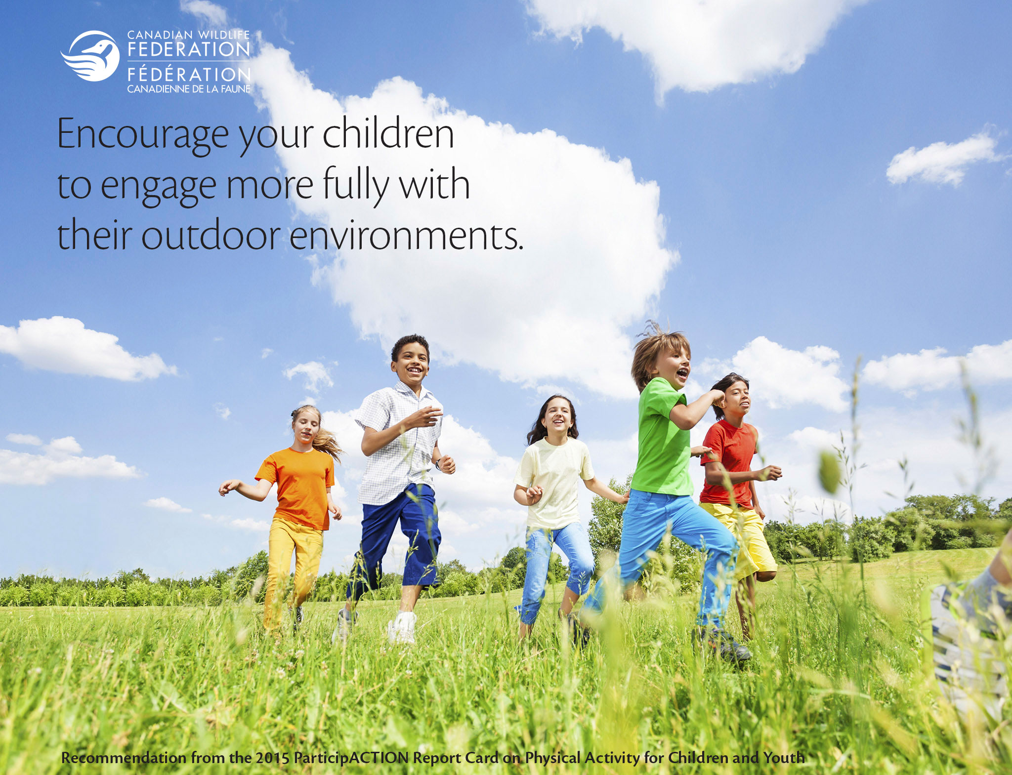 CWF meme with children running in a field