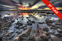 Sky reflected in lake Photo by Mykhaylo Lytvynyuk