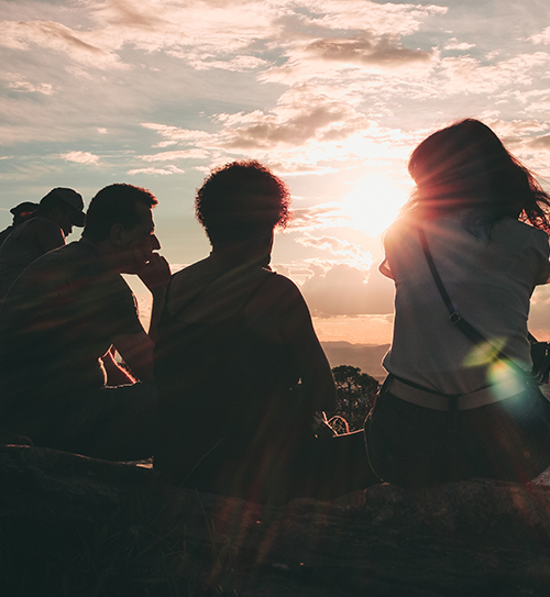people nature cliff sunrise
