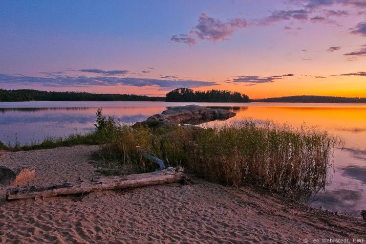 Thunderbay beach at sunset