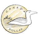 Illustration of loonie Canadian currency