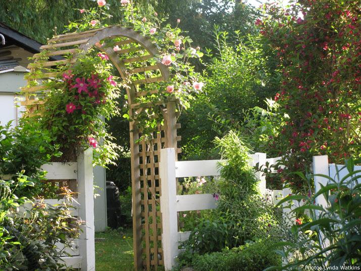Lynda Watkins garden fence