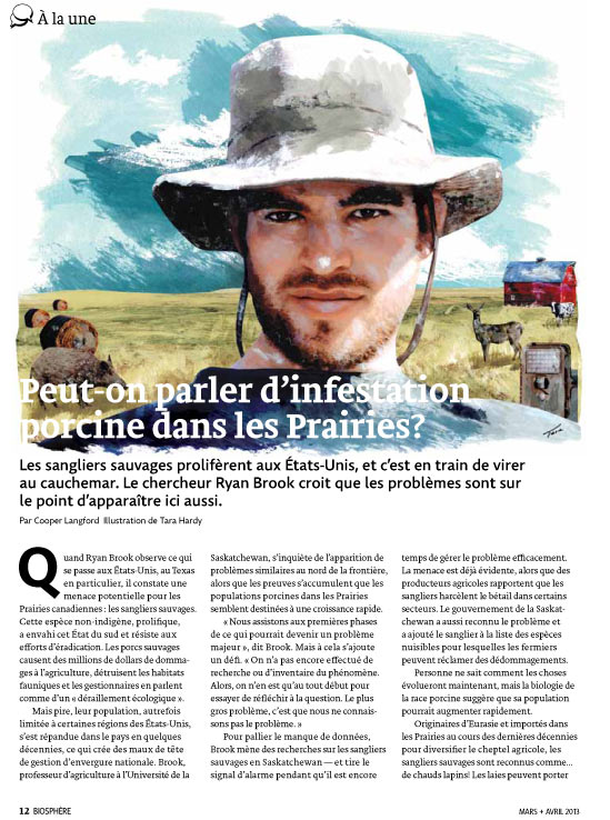 Article image with man in prairies illustration