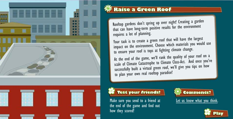 Raise a green rooftop game instructions